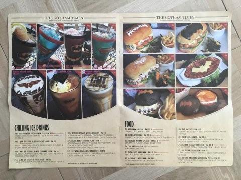 comics menu